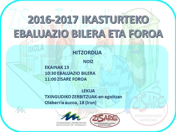 ZISARE BILERA-FOROA Gonbidapena